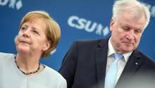 Merkel Horst Seehofer