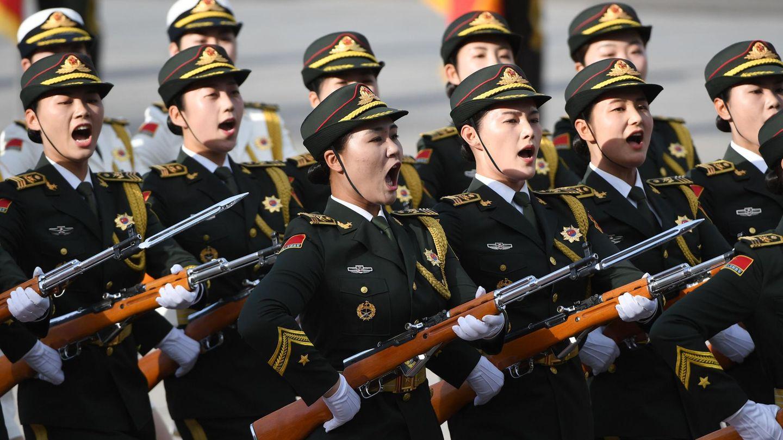 Ehrengarde der Volksarmee.China treibt die Modernisierung des Militärs mit Riesenschritten voran.