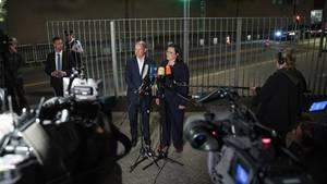 Vizekanzler Olaf Scholz und SPD-Chefin Andrea Nahle