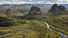 Eine Luftaufnahme des Serranía-de-Chiribiquete-Nationalpark in Kolumbien