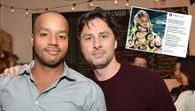 Eine Bromance, wie sie schöner nicht sein könnte: Schauspieler Donald Aison und Zach Braff