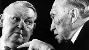 Horst Seehofer, Konrad Adenauer, Ludwig Erhard