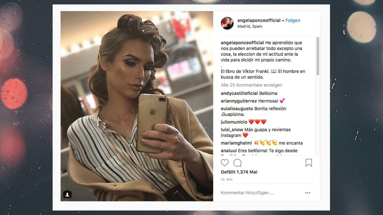 Angela Ponce auf Instagram