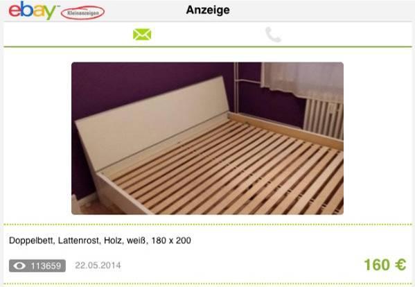Bild eines Bettes