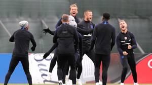 Englische Spieler beim Training