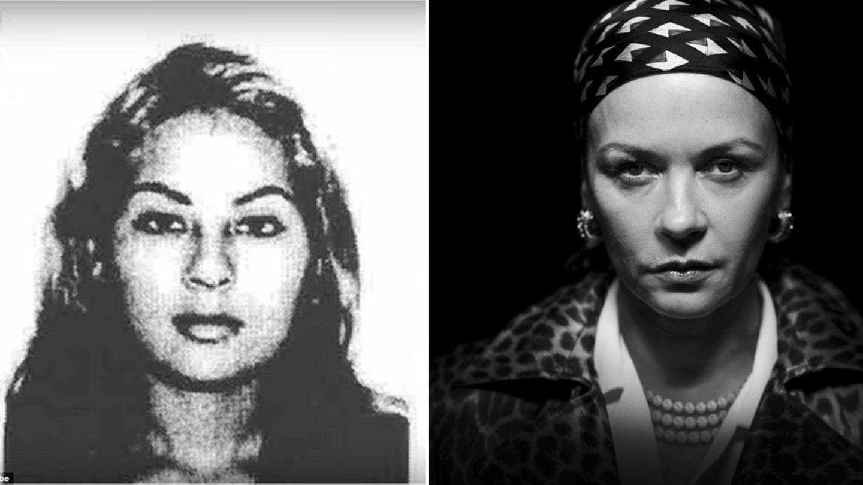 Als junge Frau war Griselda Blanco sehr attraktiv. Daneben:Catherine Zeta-Jones als Drogenbaronin.