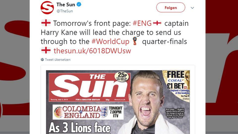 Vor dem Spiel gegen England: Kolumbien empört über Titel britischer Zeitung - dieses Wortspiel sorgt für Zoff