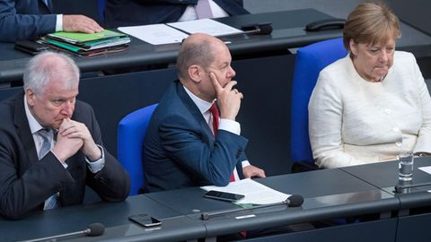 Seehofer, Scholz, Merkel