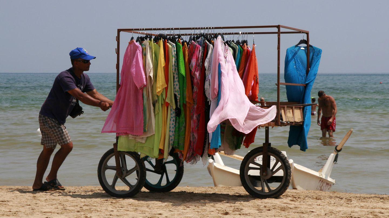 Händler am Strand
