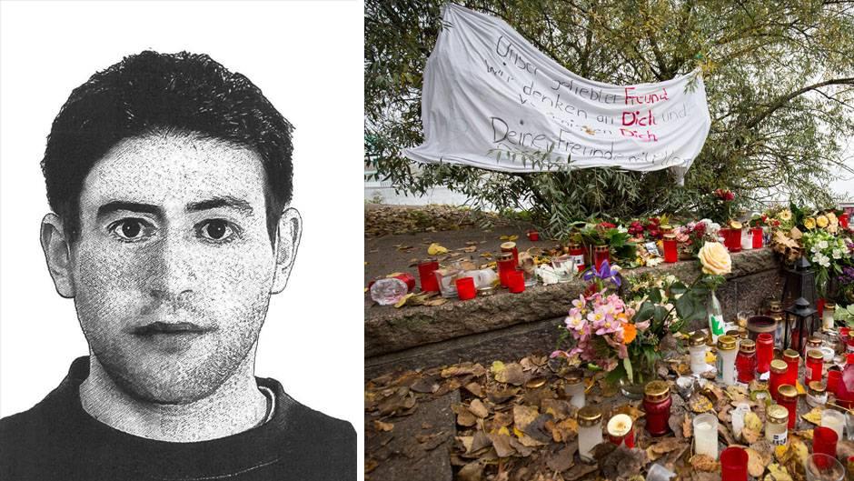 """""""Aktenzeichen XY"""": Phantombild des """"Alster-Mörders"""", niedergelegte Blumen am Hamburger Alsterufer"""