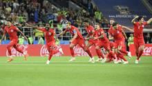 Der entfesselte Jubel der Engländer nach dem historischen Sieg im Elfmeterschießen