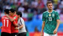 Thomas Müller konsterniert, Südkorea-Spieler jubeln - Für das Favoritensterben bei der WM gibt es viele Gründe