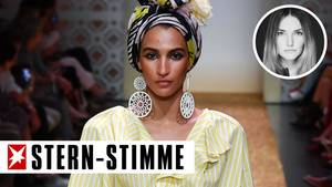 Talia Graf bei der Berlin Fashion Week auf dem Laufsteg für Marc Cain