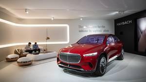 Das Konzeptauto Maybach Ultimate Luxury zeigt schon wichtige Elemente der Formensprache, wie den Chrom-Kühlergrill