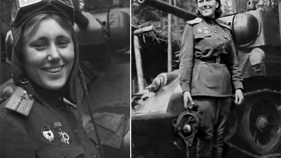 Aleksandra Samusenko wurde für ihre Leistungen in der Schlacht mit dem Rotbanner-Orden ausgezeichnet. Sie war die einzige sowjetische Panzerkommandantin.Samusenko fiel 1945 beiZülzefirz kurz vor Berlin, als sie nachts in das Laufwerk eines eigenen Panzers geriet.