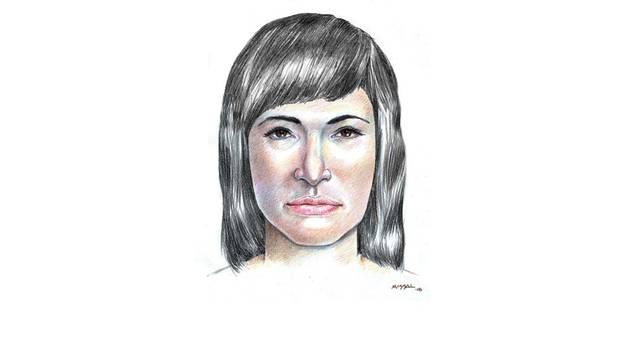 Das Phantombild einer attraktiven dunkelhaarigen Frau