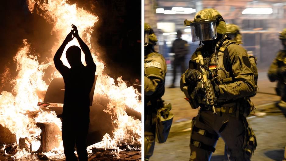 G20-Gipfel in Hamburg: Randalierer und Polizei