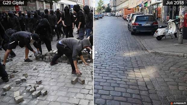 Das Schulterblatt in Hamburg während und nach dem G20-Gipfel