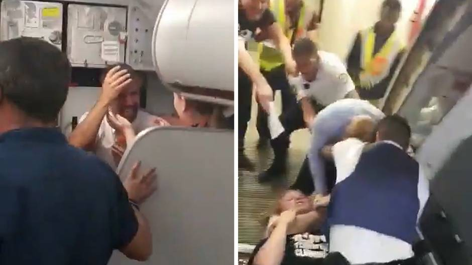 Easyjet-Flug nach Mallorca: Schlägerei im Flugzeug: Polizisten ringen Passagier zu Boden