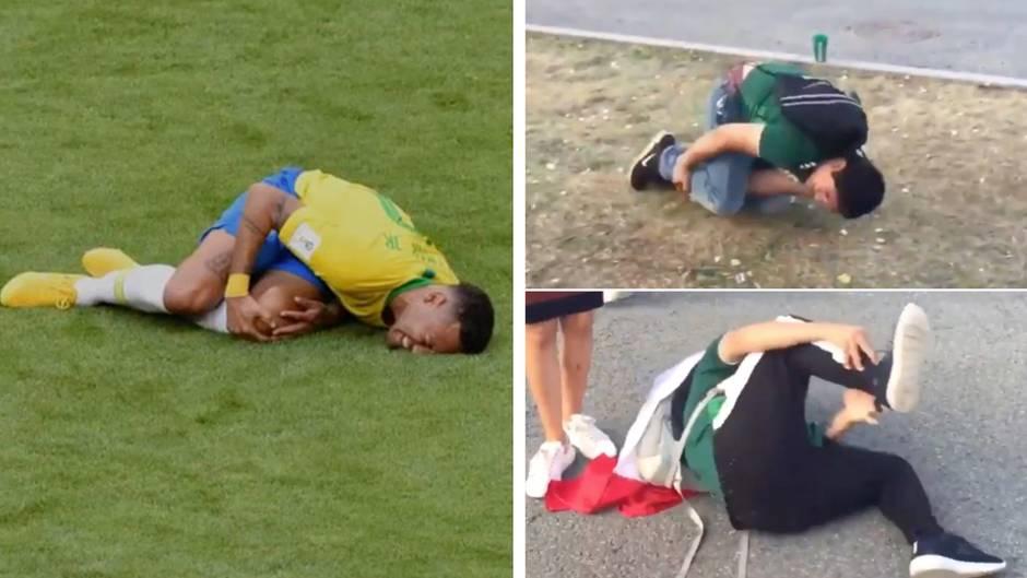 """Leidvolles Umhergewälze: """"Mach mal den Neymar"""": So witzig spottet das Netz über den brasilianischen Fußball-Star"""