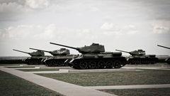 Prohowolka - Das Denkmal der größten Panzerschlacht des Krieges besteht aus T-34.