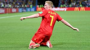 Erzielte das zwischenzeitliche 2:1 für Belgien gegen Brasilien bei der WM 2018: Kevin de Bruyne