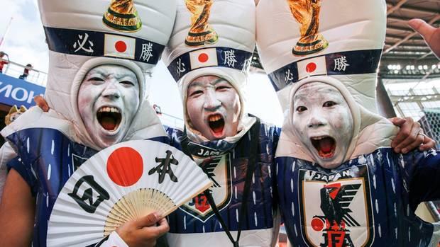 Japanische Fußball-Fans in Russland