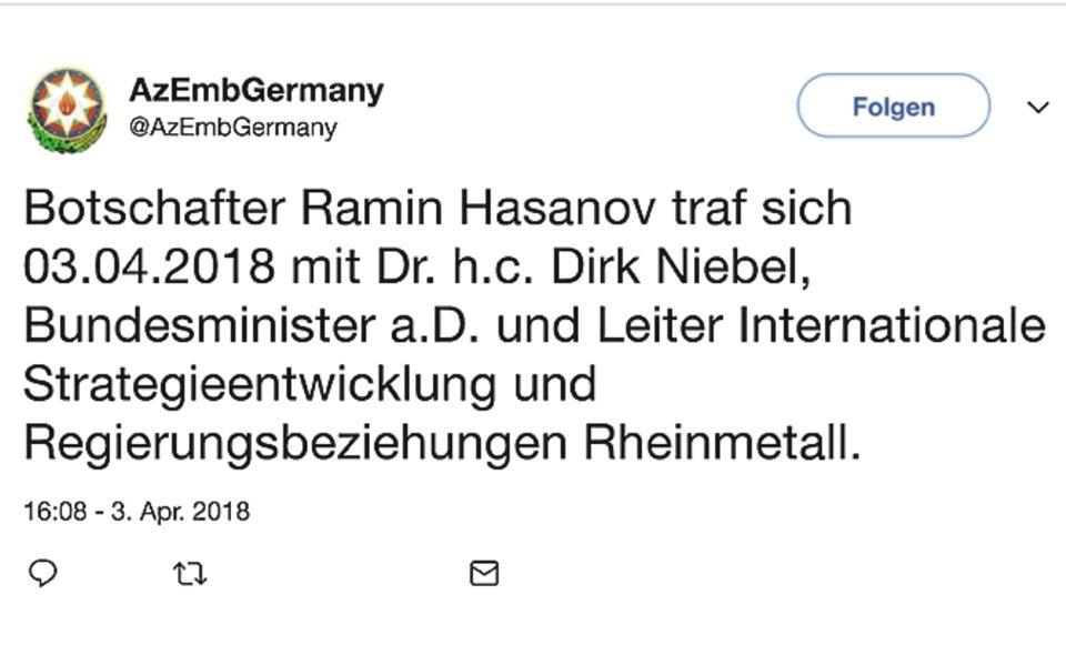 Rüstungsexport: Beliefert der Rüstungskonzern Rheinmetall künftig Aserbaidschan – trotz des Waffenembargos?