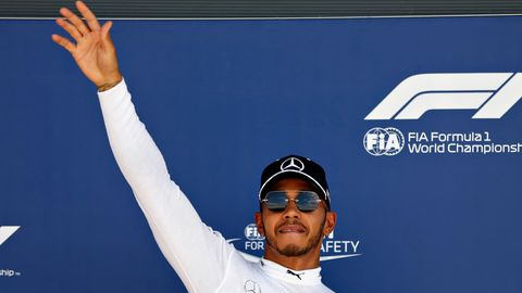 Lewis Hamilton in Silverstone