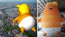 Baby-Trump-Ballon darf während des Staatsbesuchs über London schweben