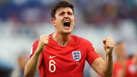 Harry Maguire jubelt