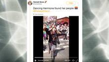 """Dancing Hermione"": ""Harry Potter""-Fan tanzt auf der ""Pride""-Parade in London"
