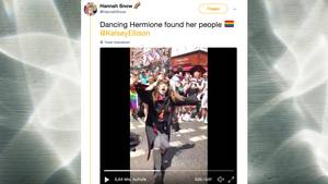"""Dancing Hermione"": ""Harry Potter""-Fan tanzt auf der ""Pride""-Parade in London"