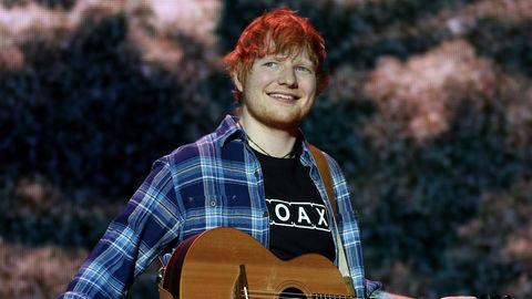 Ed Sheeran bei einem Konzert in London