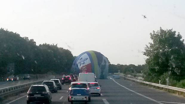 Notlandung Heißluftballon