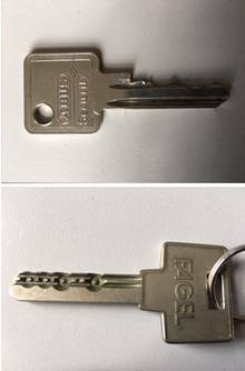 Diese Schlüssel trug der unbekannte bei sich
