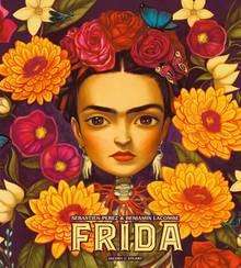"""""""Frida"""" von Sébastien Perez, Text, und Benjamin Lacombe (Illustrationen).  76 Seiten, mit Seidenbezug und 14 Ausstanz-Seiten, Verlag Jacoby & Stuart, 2017, 40 Euro, hier bestellbar"""