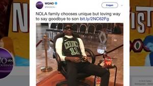 Der Leichnam eines jungen Mannes bei seiner Beerdigung