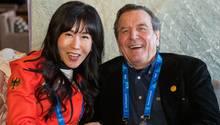 Gerhard Schröder und seine EhefrauSoyeon Kim