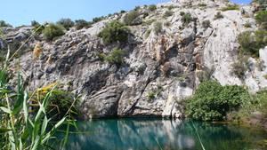 Die Taucher durchsuchten das HöhlensystemFont Estramar in Frankreich