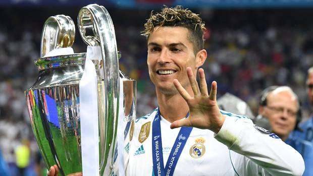 Cristiano Ronaldo nach seinem fünften Champions-League-Gewinn