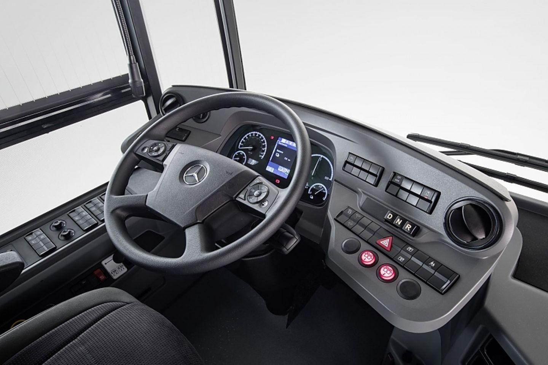 Das Cockpit des Mercedes eCitaro