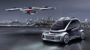 Bei Pop.Up Next wird die Fahrgastzelle entweder mit der Drohne oder einem Elektroauto transportiert