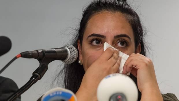Gamze Kuba·ik, Tochter des in Dortmund ermordeten Mehmet Kuba·ik,einen Tag vor der Urteilsverkündigung im NSU-Prozess
