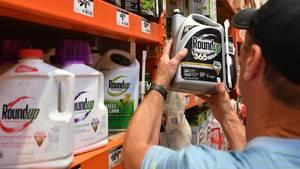 Monsantos Unkrautvernichter Roundup mit dem umstrittenen Wirkstoff Glyphosat