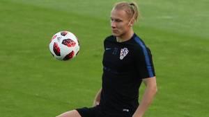 Domagoj Vida beim Training von Kroatien