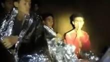 Der 14-jährige Adul Sam-on in einer Höhle in Thailand