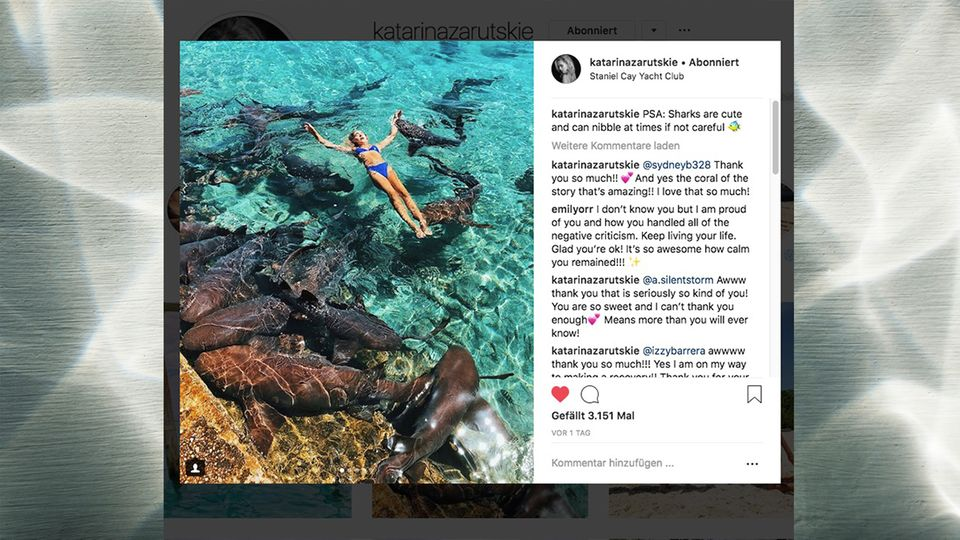 Katarina Zarutskie auf ihrem Instagram-Kanal