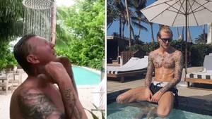 Stefan Effenberg beweist Humor: Mit einem Video macht er sich auf Instagram über seinen jüngeren Fußball-Kollegen Loris Karius lustig