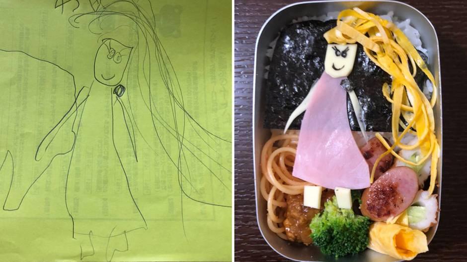 Vater des Jahres: Dieser Japaner verwandelt Zeichnungen seiner Tochter in kreative Mahlzeiten